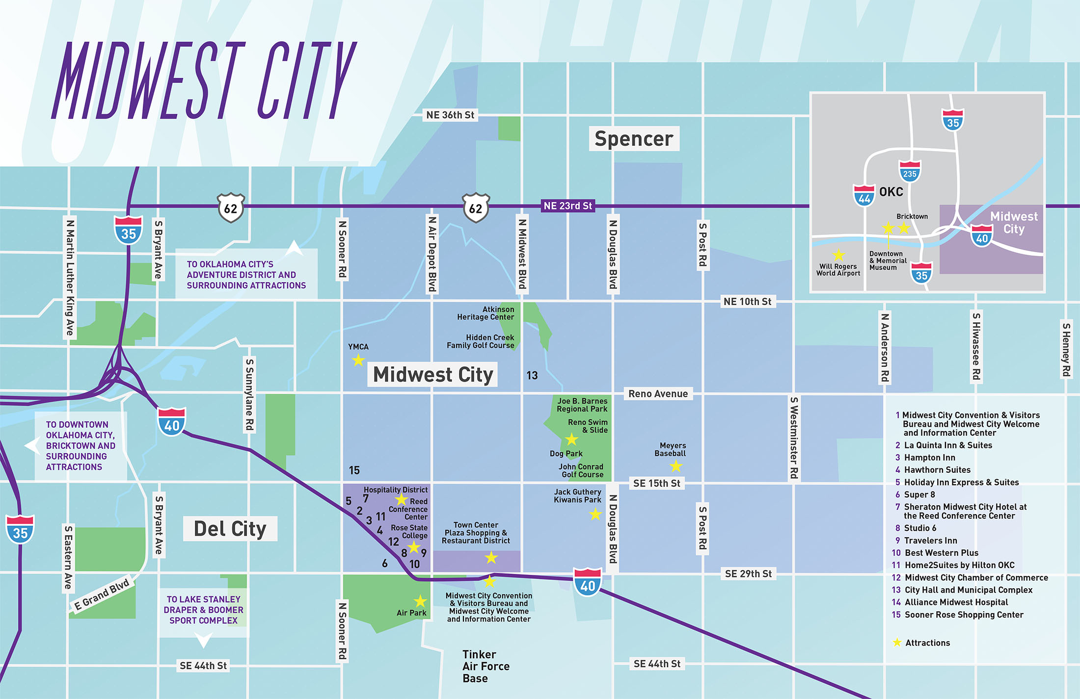MAP  Midwest City Convention and Visitors Bureau